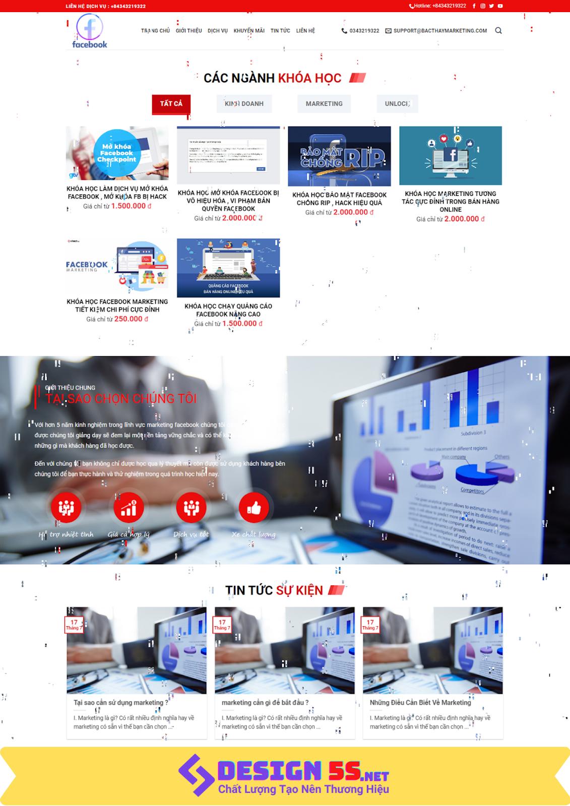 Mẫu website bán khóa học online chuyên nghiếp chuẩn google - Ảnh 1