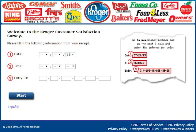 kroger feedback survey image