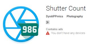 Aplikasi Android Untuk Cek Shutter Count Kamera