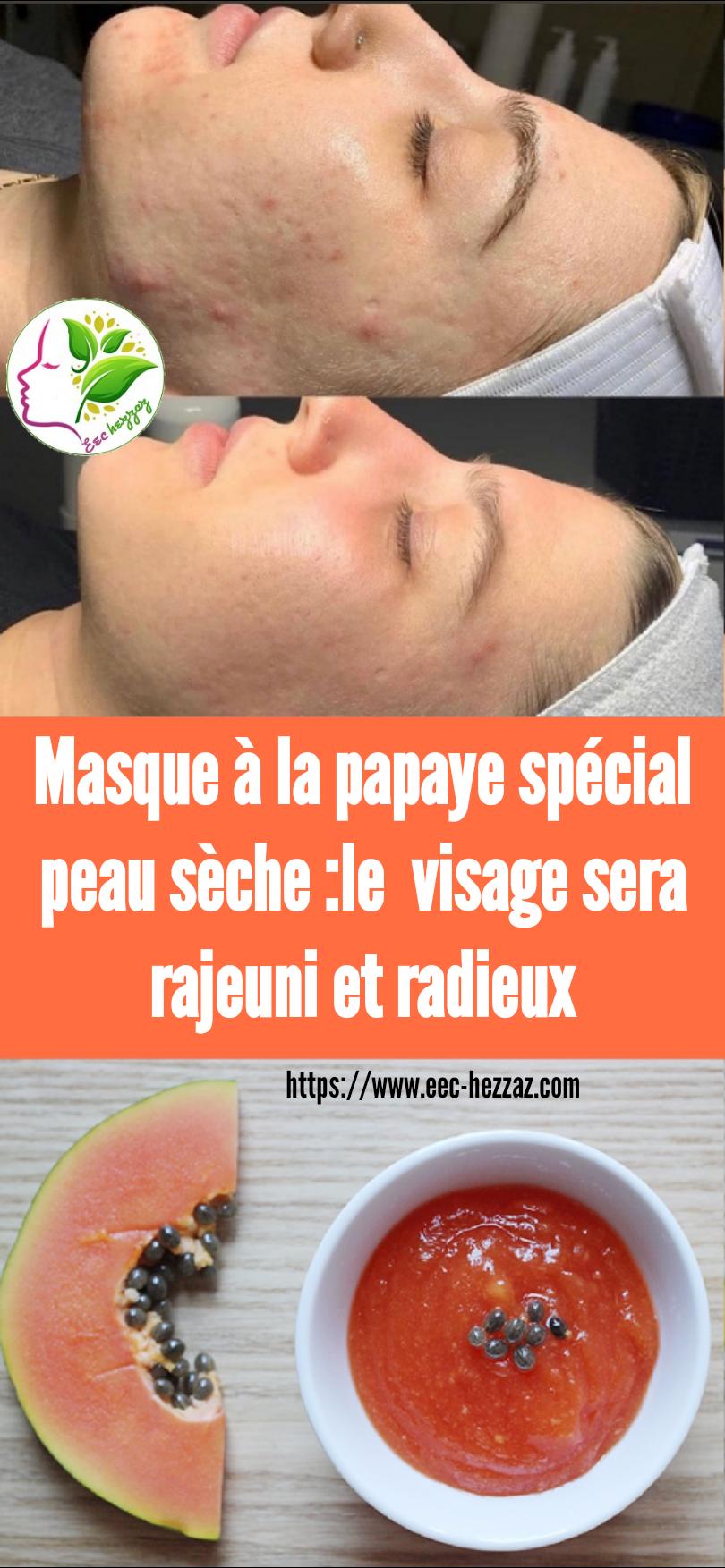 Masque à la papaye spécial peau sèche :le  visage sera rajeuni et radieux
