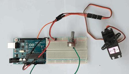 Mengendalikan Motor Servo   Sketch dan Project Program Arduino