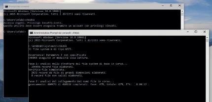 prompt comandi in Windows 10 accesso amministratore