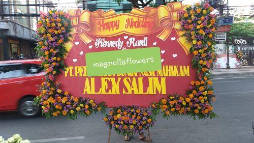 bunga papan pernikahan surabaya, bunga papan surabaya 24 jam, jasa pembuatan bunga papan surabaya