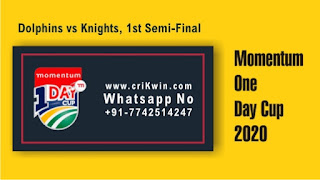 Cricfrog Today Match Prediction Tips - KNG vs DOL Semi Final ODI Momentum