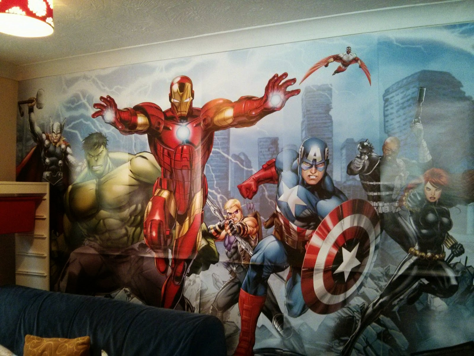 Dulux Marvel Avengers Poster in the Den