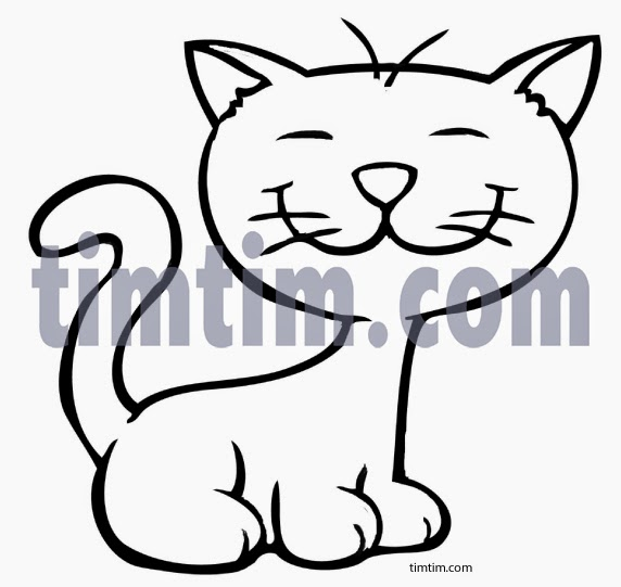 Cat bw cartoon drawings of cats