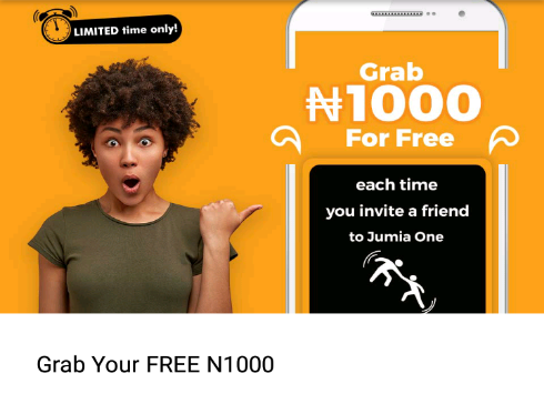 JumiaOne App Offer Free N1000 Reward - See How To Get Yours Now