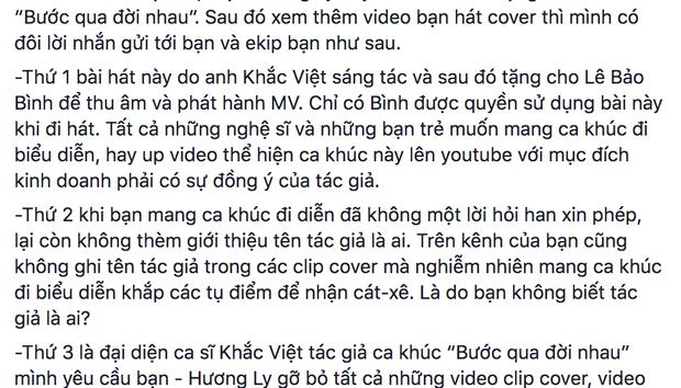 Khắc Việt Dằn Mặt  Hương Ly : Muốn Làm Nghệ Sĩ Phải Học Cách Tôn Trọng Người Khác