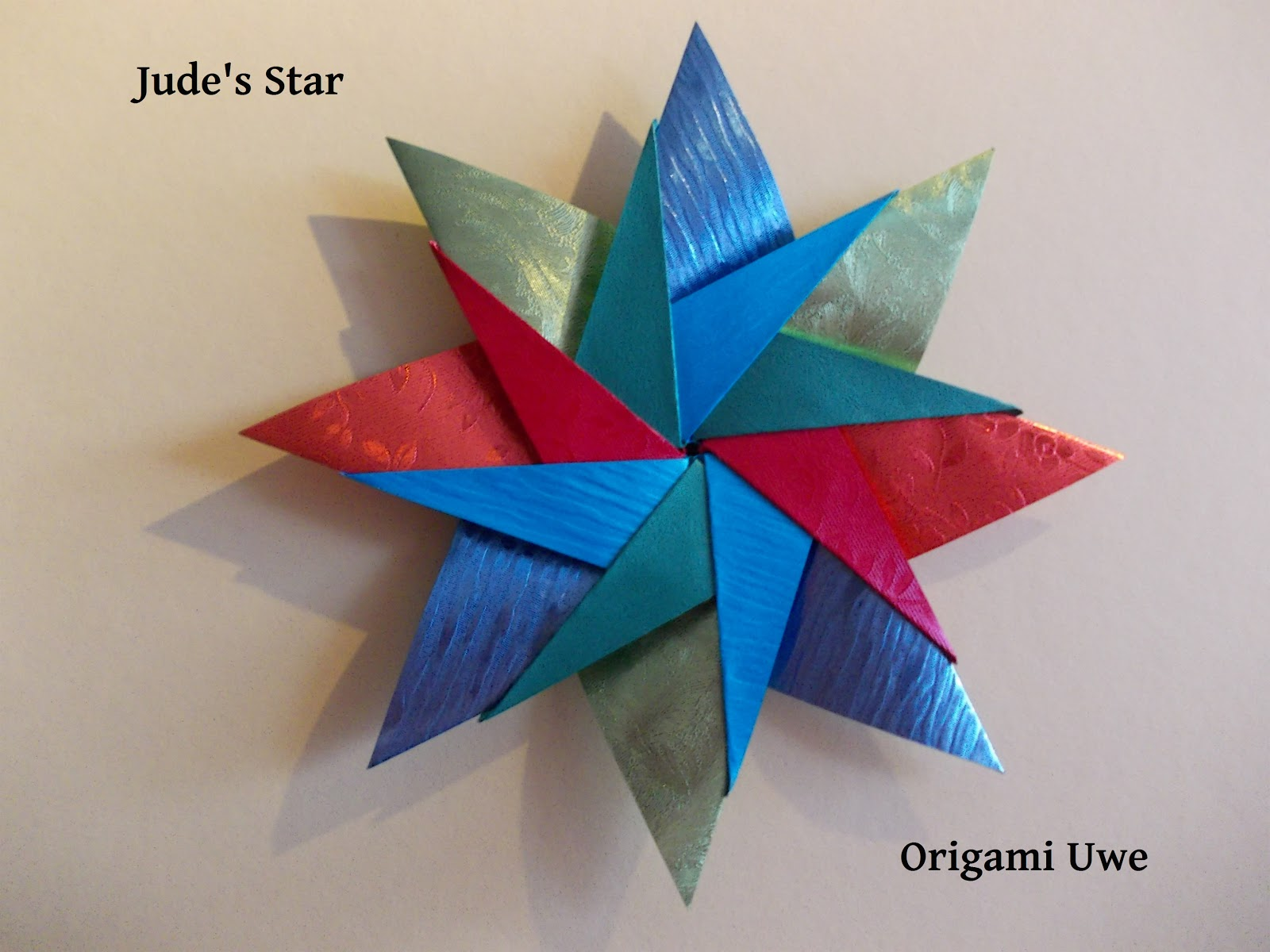origami fleurogami und sterne jude 39 s star by ur fleurogami. Black Bedroom Furniture Sets. Home Design Ideas