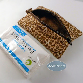 Leopard Print Travel Tissue Case