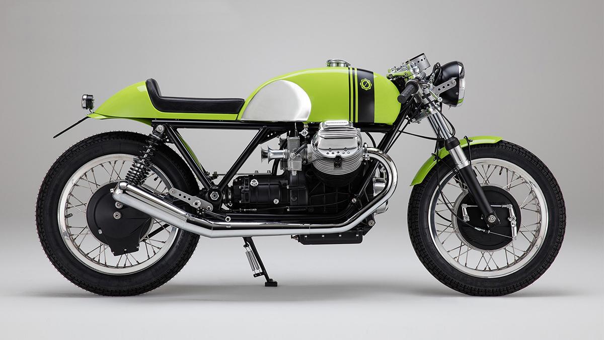 green dream maschine moto guzzi v7 cafe racer return. Black Bedroom Furniture Sets. Home Design Ideas