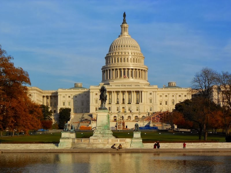 O Capitólio - centro do governo americano