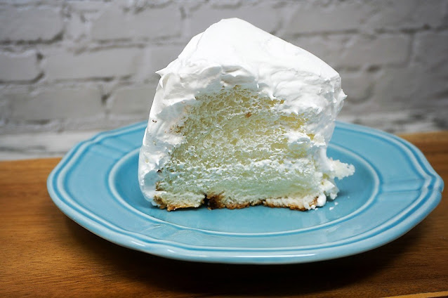 Angel Food Cake With Fluffy White Frosting