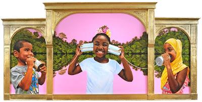 Werllayne Nunes, US, 2021, Oil on linen panel, 30 × 60 × 2 1/2 in.,