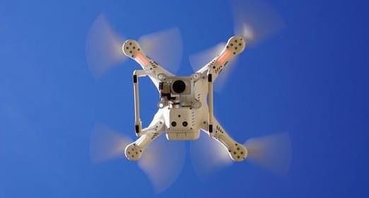 ドローンで空中写真