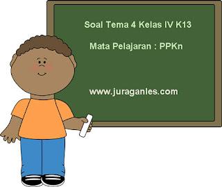 Contoh Soal Tema 4 Kelas 4 SD/MI Kurikulum 2013 Mata Pelajaran PPKn