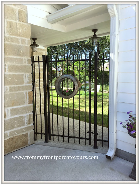 Garage Door Makeover-Detached Garage-Iron Gate-Farmhouse-From My Front Porch To Yours