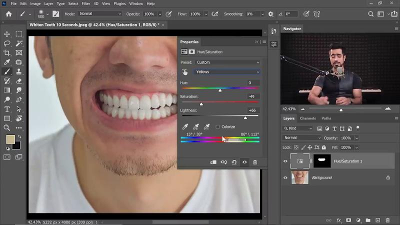 Как моментально отбелить зубы в Фотошопе