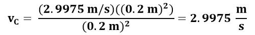 Cálculo de velocidad en el punto C del ejemplo 2