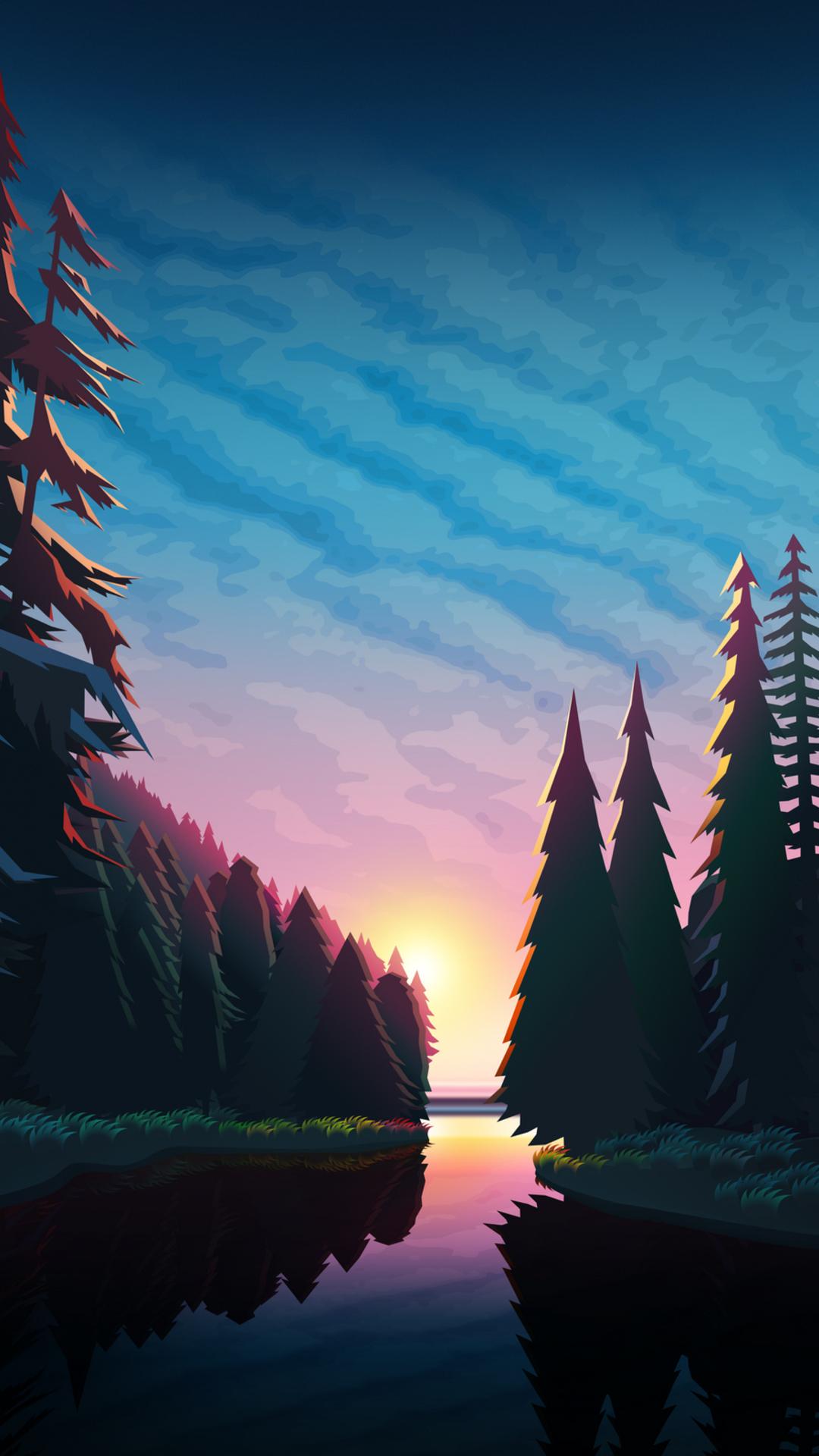 Sundown Landscape Minimalist