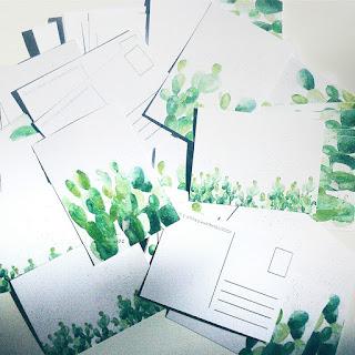 pocztówki z kaktusami
