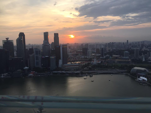 Singapore Marina Sands SkyPark view sunset
