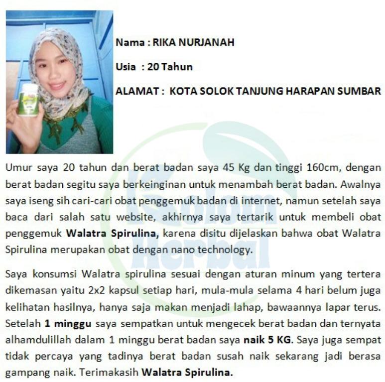 Testimoni Walatra Spirulina G-Platensis