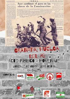 Acto homenaje a los albañiles asesinados en la huelga del 70