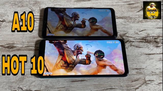 مقارنة بين Galaxy A10 و Infinix Hot 10 أيهما الأقوى في تشغيل الألعاب