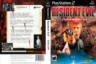 Capa-Frente-Fundo de Resident Evil 2 Dead Aim 2003 PS2 ISO