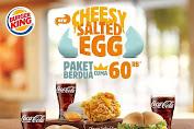 Promo Burger King CHEESY SALTED EGG Paket Berdua Cuma 60 Ribu