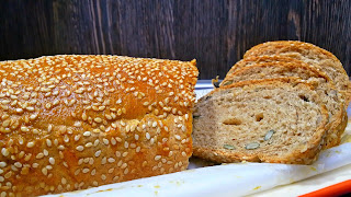 Трипластов пълнозърнест хляб - рецепта