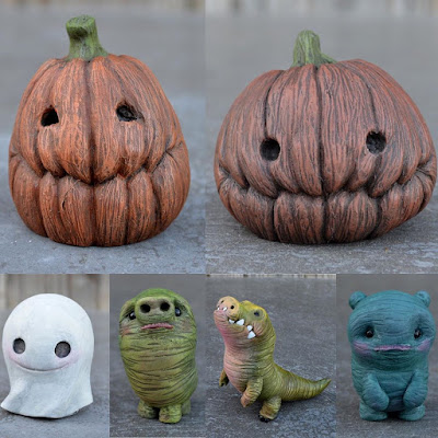 New Pumpkin, Ghost & Monster Resin Figures by Vanessa Ramirez
