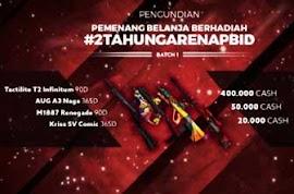 Daftar Nickname Pemenang Promo 2TahunGarenaPBID #1