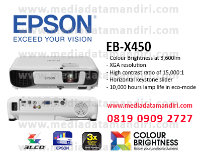 Epson EB-X450 XGA 3LCD Projector | media data mandiri
