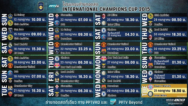 Jadwal International Champions Cup (ICC) 2016