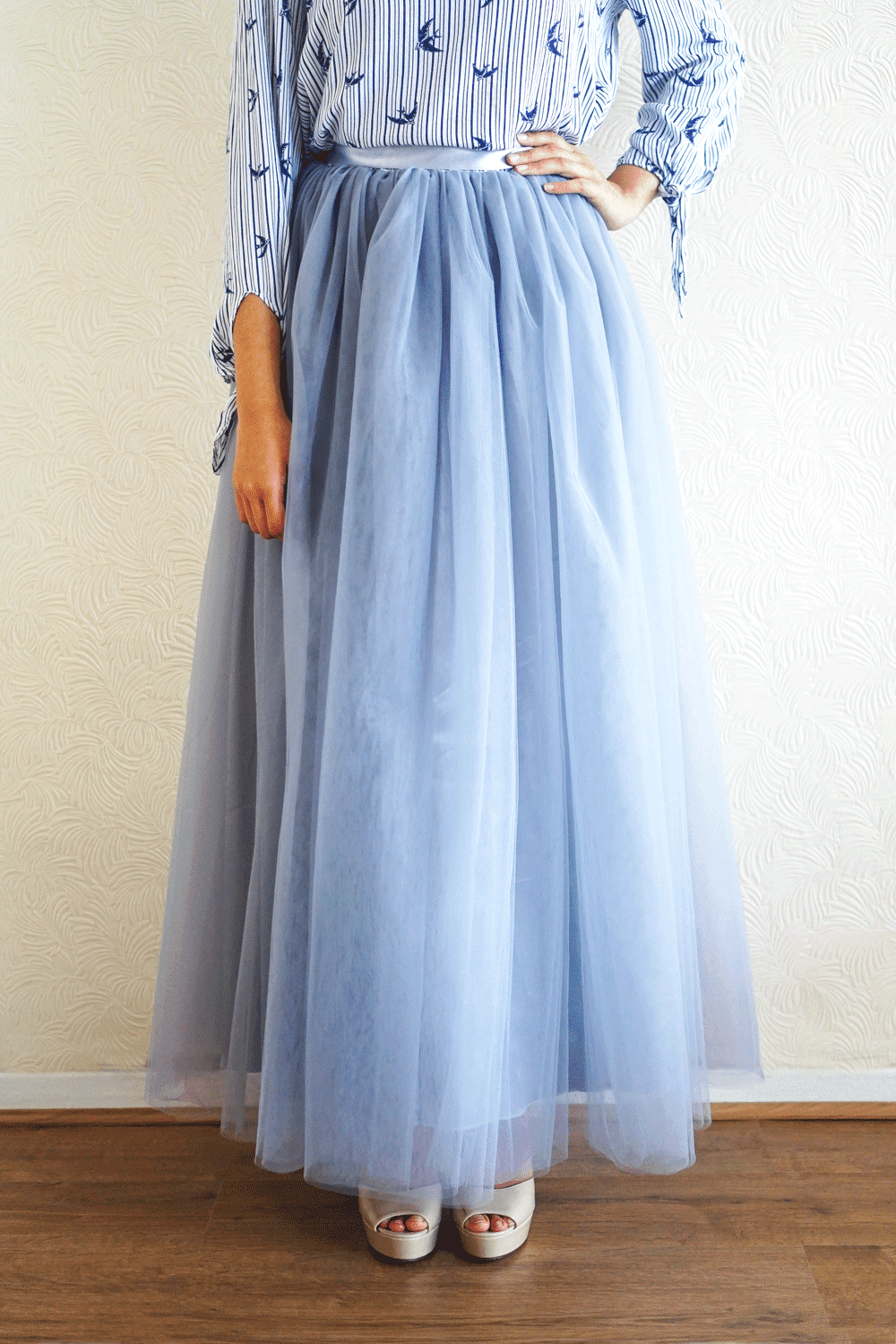 Think in Grey Tulle Skirt