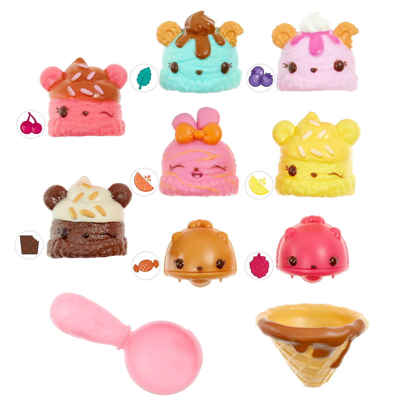 ... Each Mystery Pot Contains Num Which Is The Cute Squishy Top That Is  Scented And Then You Get A Nom Are Either A Flavoured Lipgloss Or A Stamper.
