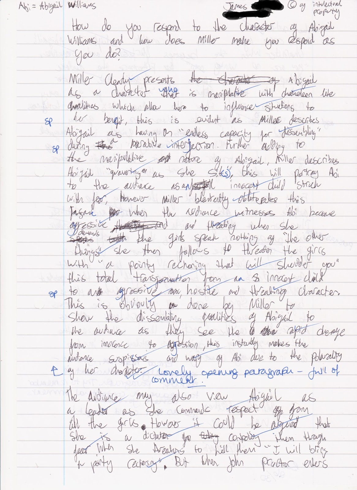 abigail williams essay pandora s essay for some interesting reader responses to abigail pandora s essay for some interesting reader responses to abigail