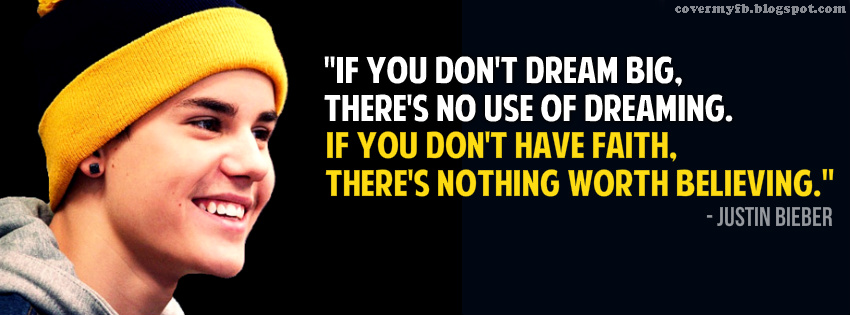 justin bieber quote facebook cover facebook covers fb