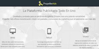 PropellerAds para monetizar tu web