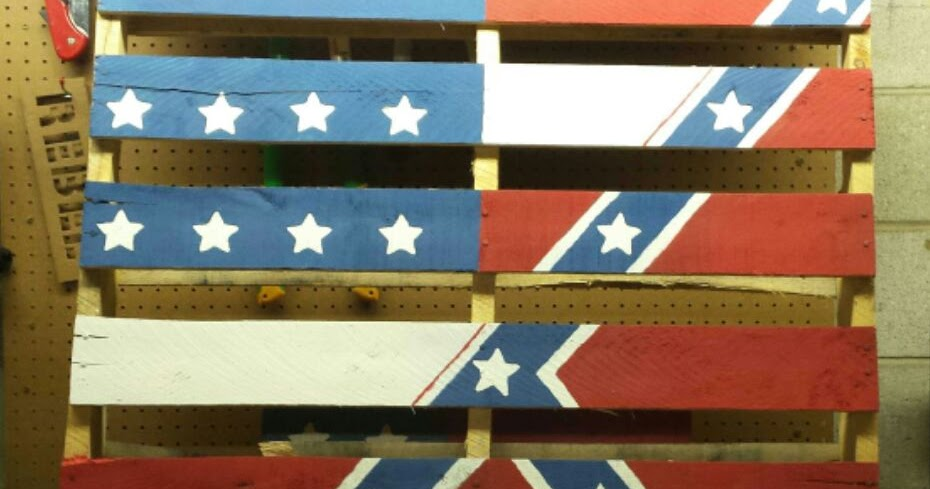 Pallet-Projects : American Rebel Flag Wall Art Made From Pallets