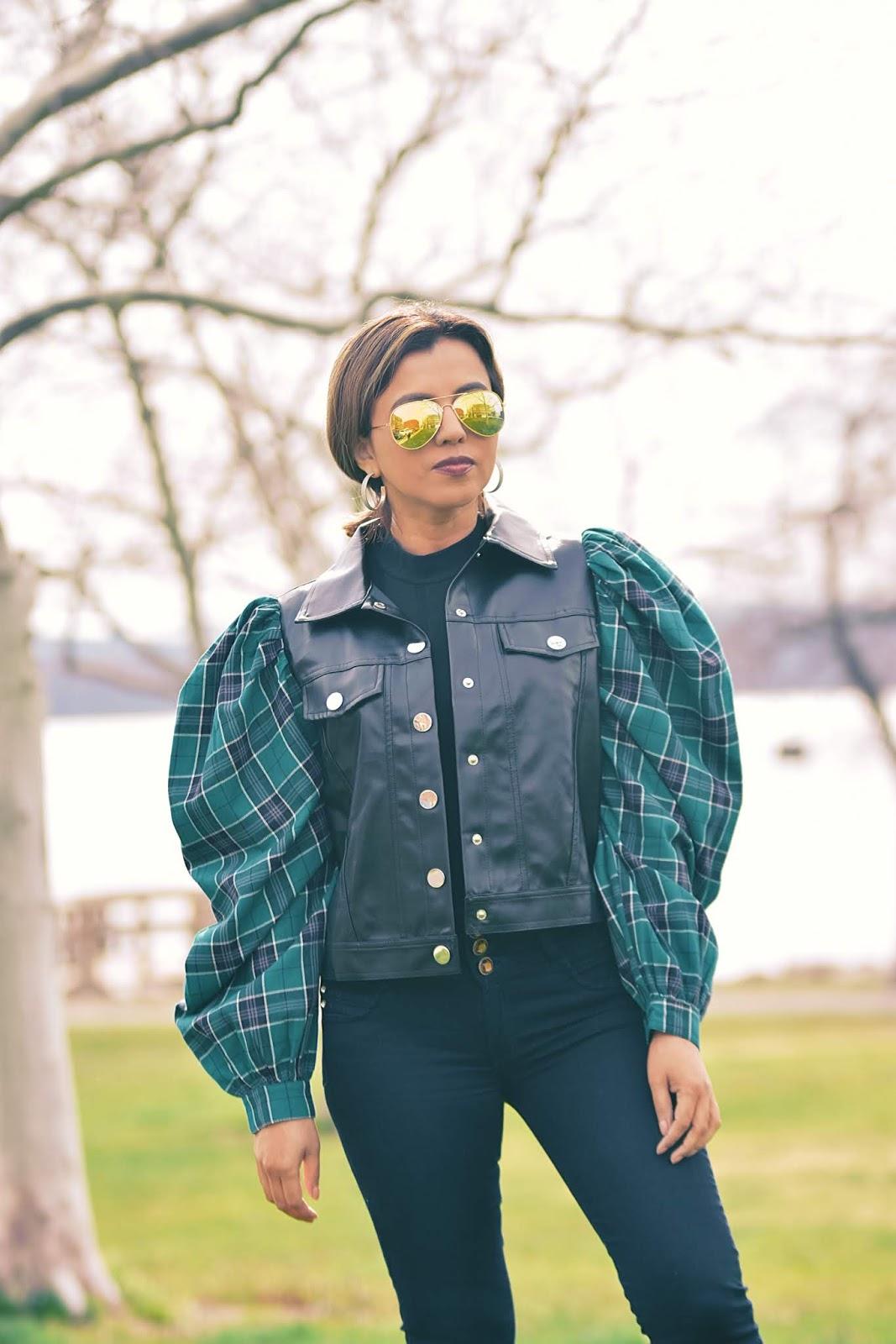 Biker Jacket Con Mangas Abullonadas by Mari Estilo-sheingals-dcblogger-travelblogger-traveller-placestogo-modaelsalvador-tendencias primavera verano2020-