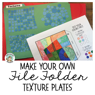 DIY File Folder Texture Plate - create your own collection of textures for cheap!  Download the texture file labels for free :-)