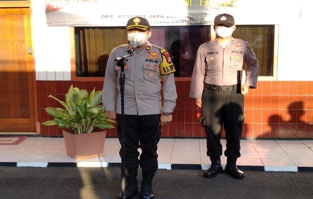 Dalam Rangka Pengamanan Malam Takbir 1441 H, Polsek Ciputat Apel Gelar Pasukan