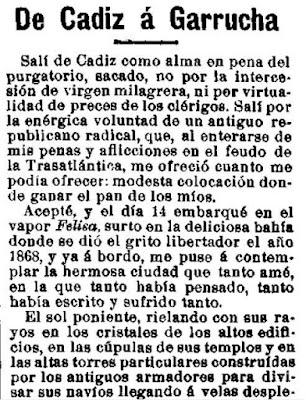 Fragmento del artículo publicado en El Motín el 30-3-1911 y que originó la carta de Rosario de Acuña