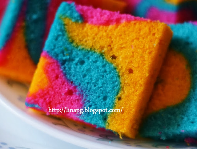 kek marble, cara nak buat kek mudah, kek minyak bakar, kek sukatan cawan mudah dibuat