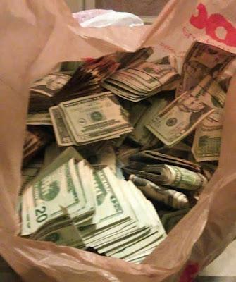 bag of dollar bills