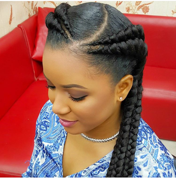 check double braids hairstyle