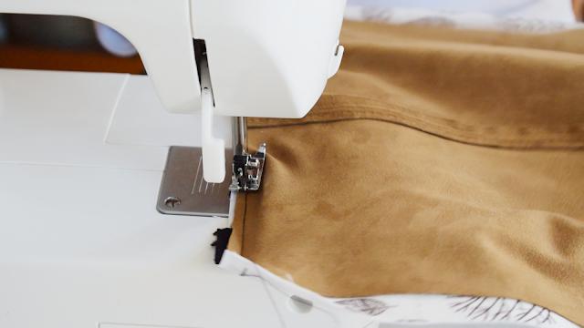 reutilizar un vestido de antelina para bolsa